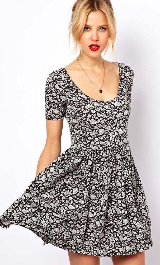 vestidos floreados con mangas - Buscar con Google