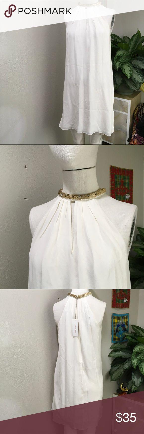 Rebecca Taylor High-Neck White Flowy Dress Super cute Flowy dress Rebecca Taylor Dresses
