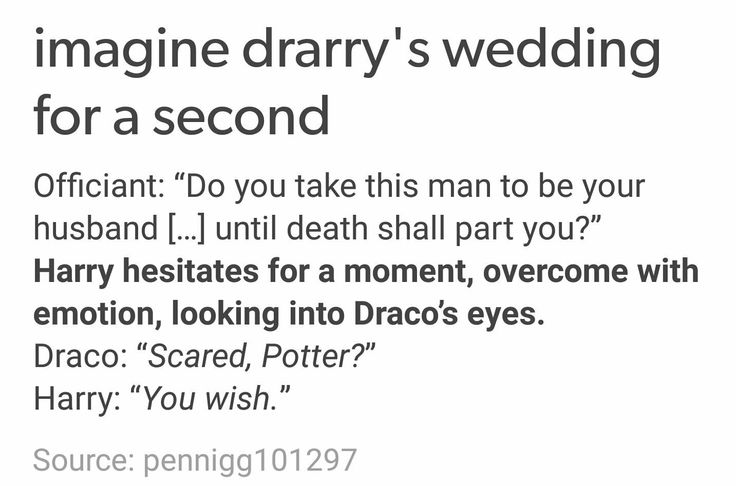 drarry's wedding
