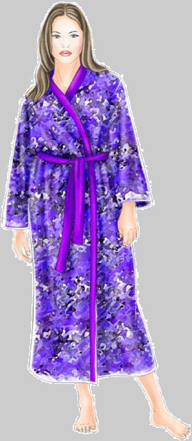 Free Bath Robe Pattern Download in S, M, L, and XL. http://m-sewing.com/patterns-catalog/women/underwear/bath-robe.html