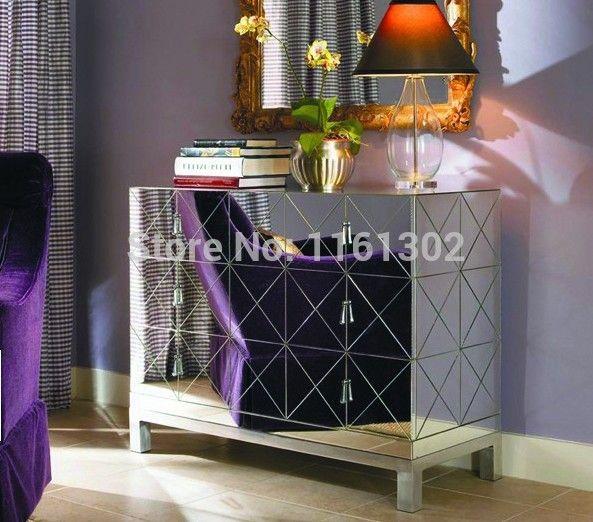 Mr 401032 modern chanfrado espelhado mesa lateral 3 gavetas em Cômodas de Móveis no AliExpress.com | Alibaba Group