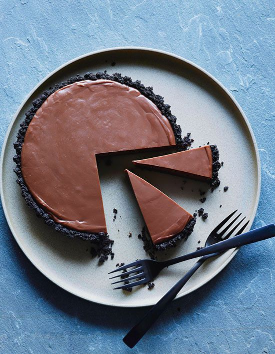 Double Chocolate Malted Tart