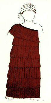 Vestido de una diosa de la antigua Babilonia, ca. 1950-1530 a.C.