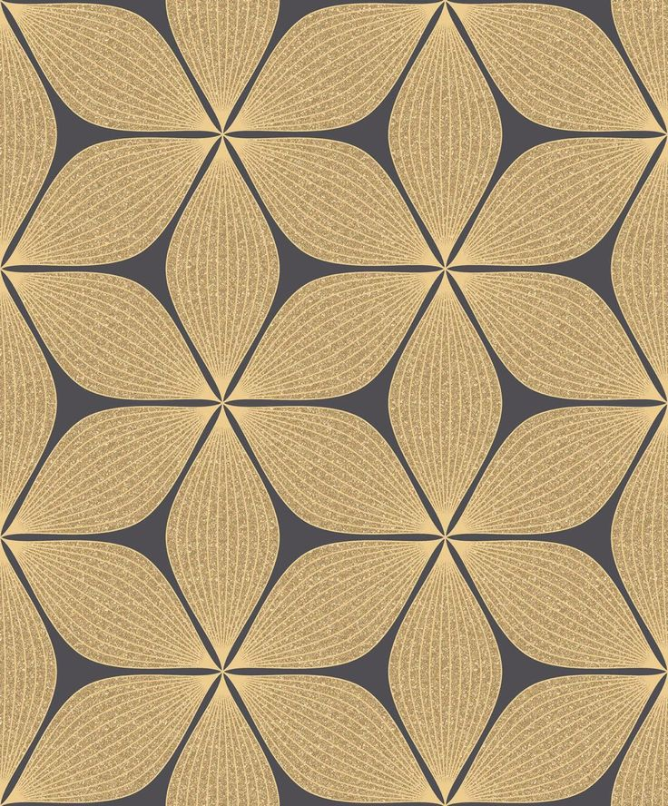 Vibration Black & Gold wallpaper by Albany
