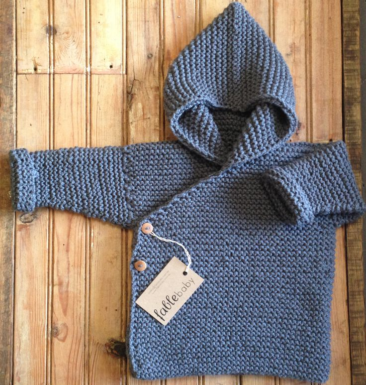 Hand Knitted Organic Cotton Chunky Hoodie - MADE TO ORDER | Fable Baby