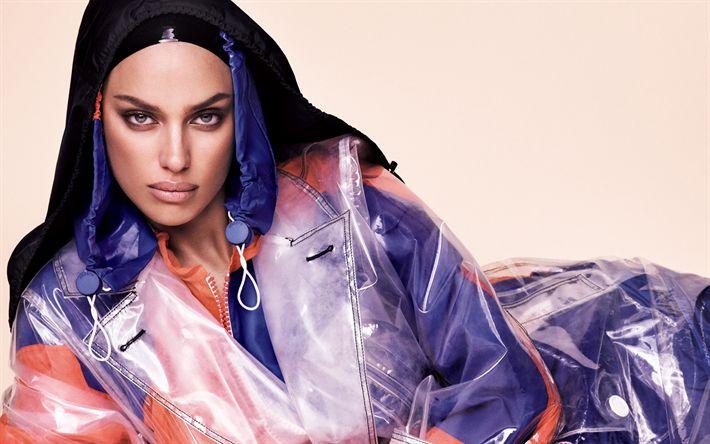 Download wallpapers Irina Shayk, 4k, portrait, fashion model, make-up, Russian supermodel, Russia, Irina Shaykhlislamova
