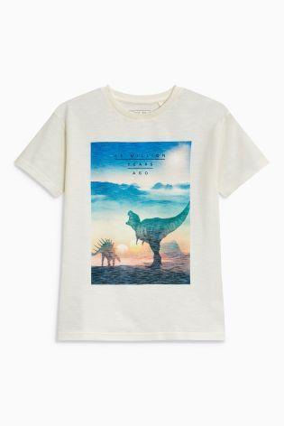 White Dino Graphic T-Shirt (3-16yrs)