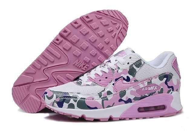 quality design 8c72a f424f 1767  Nike Air Max 90 Print Dam Rosa Rosa Vit SE775454ddzMVwn