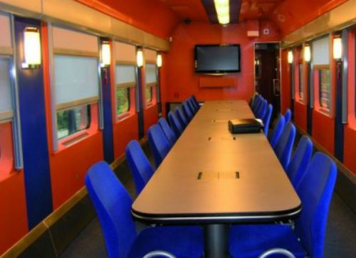 conference on the go...meeting room/train carriage, Poland