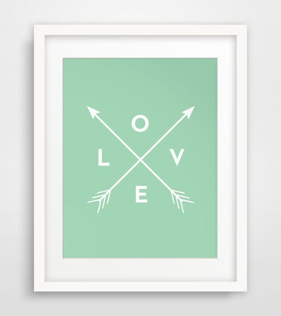 Mint and Arrows, Mint Green, Green Arrow, Mint Green Party Decor, Love Sign…