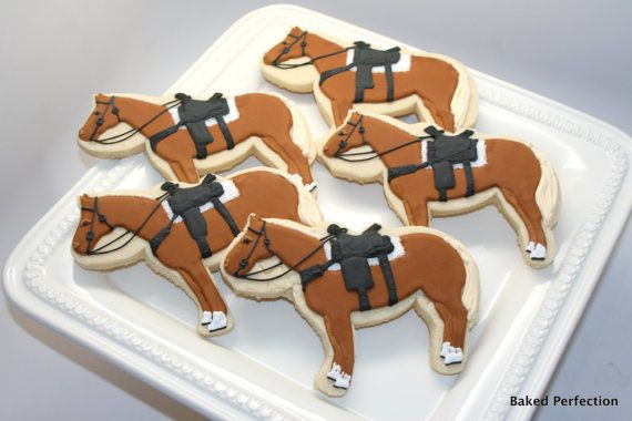 Equestrian Themed Vanilla Sugar Cookies with by bakedperfection, $45.00