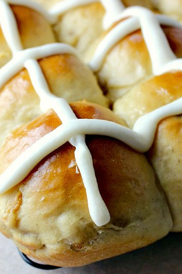 Easy Hot Cross Buns | Renee's Kitchen Adventures: Easy to make classic hot cross buns for Easter!