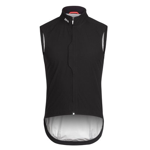 Inspired by the racing needs of the pros, this sleeveless waterproof outer layer offers protection for your core and packs down into a jersey pocket.