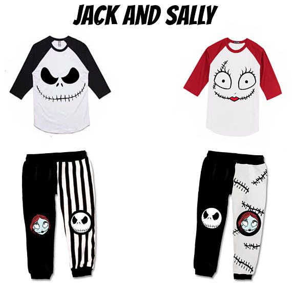 JACK AND SALLY (gear) Nightmare Before Christmas Kids Toddlers Babies goth clothing