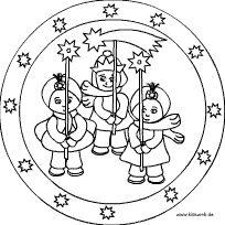 Heilige Drei Könige Mandala