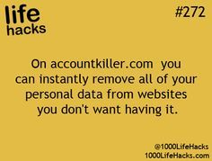 Great site to use for deleting personal information from social sites that you don't want to have your info on.