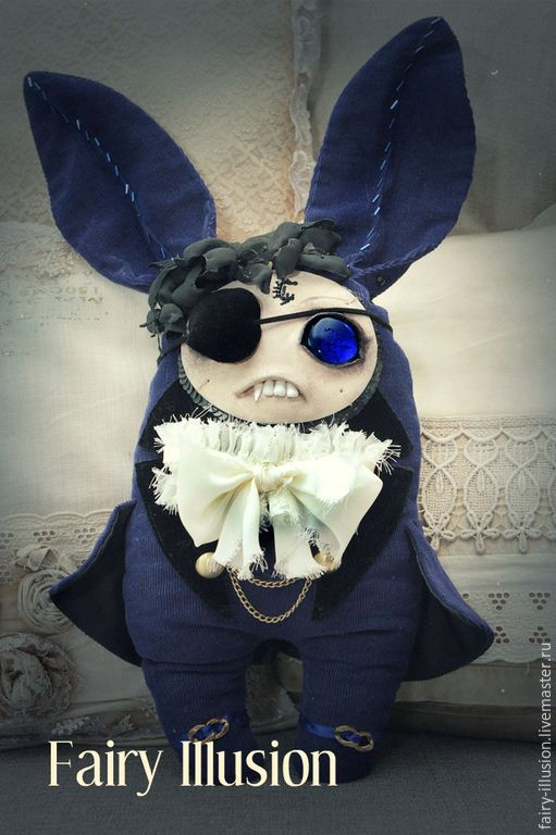 Фейрик  Fantome. Cute and crazy monster doll, a fairy creature from Fairy-Illusion. Handmade, author's doll.DIY-dolls-doll monster- interior doll-goods