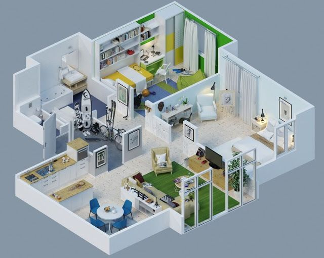 25 Top House Plan Designs have One Bed Rooms   House Plans