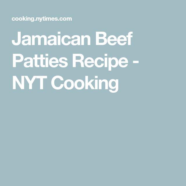 jamaican beef patties recipe  nyt cooking  beef patties