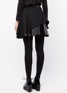 Κλος φούστα με διπλό ύφασμα