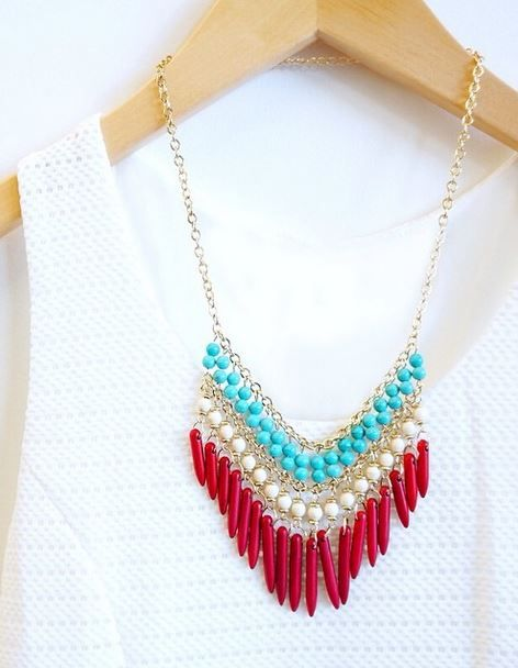Playing Coy Red Beaded Necklace - Lulu's