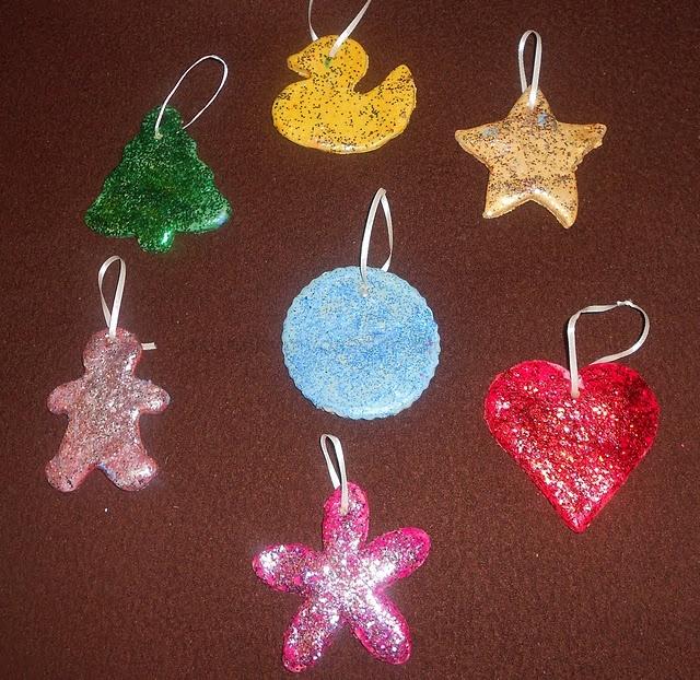 Kids Christmas Craft: Glitter Salt Dough Ornaments