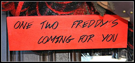 Freddy Krueger Sign, Nightmare on Elm Street, Halloween Decoration, Halloween Frame, Frame, Halloween Decor,
