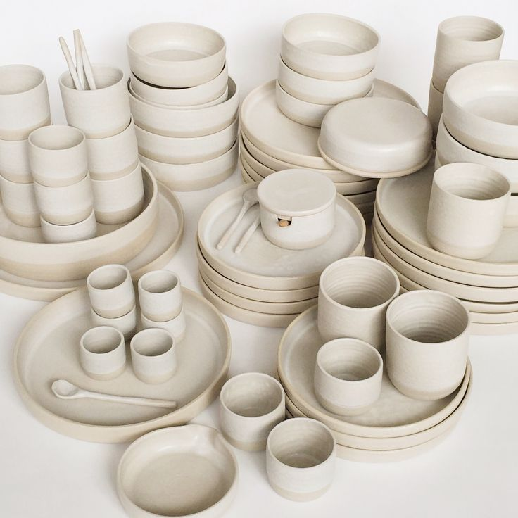By Annemieke Boots Ceramics thrown pottery - tableware  - white