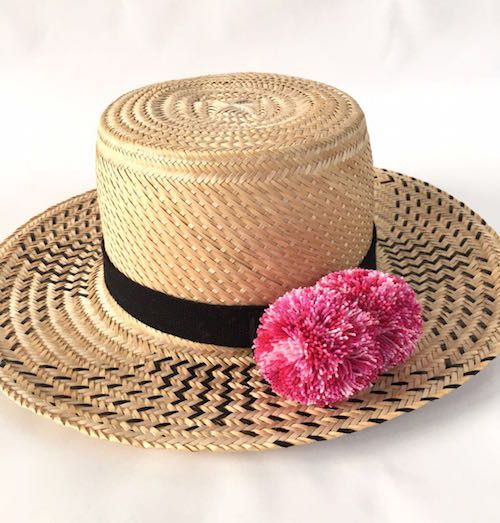 WAYUU Hat Black-Pink