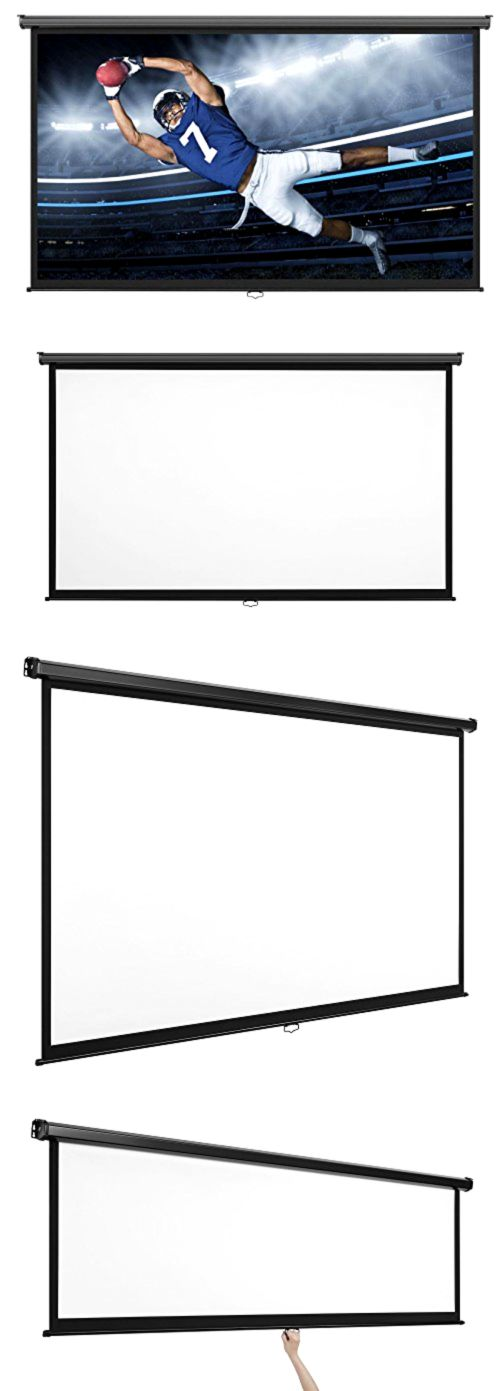 Projection Screens and Material: Vonhaus 100-Inch Widescreen Projector Screen (Manual Pull Down) - Home Theater/C BUY IT NOW ONLY: $100.29