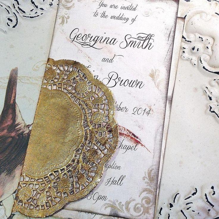 Vintage romance wedding invitation  www.bohemiandreams.co.uk
