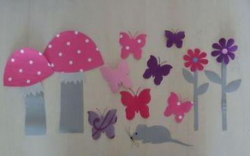 ≥ leuke behang decoratie vlinders vogeltjes bloem ook pip - Kinderkamer | Inrichting en Decoratie - Marktplaats.nl