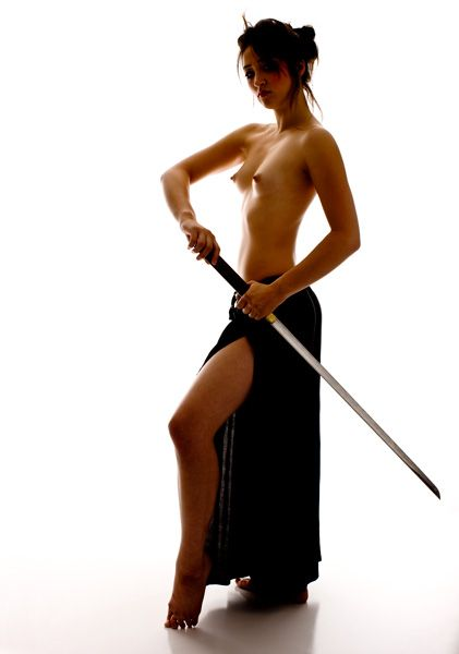 Nude female juapanese warrior