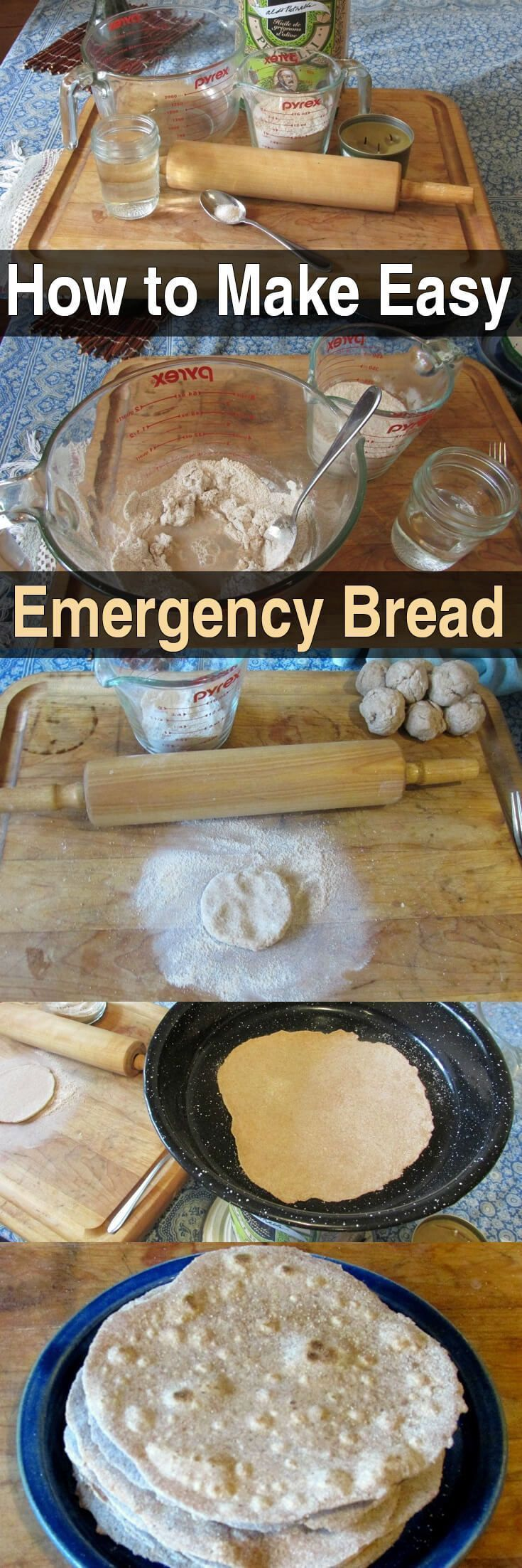 This emergency bread is easy to make, effective, and contains very few ingredients. You can make as much as you need for a single day, or for a few days. #EmergencyBread #MakingFood #Urbansurvivalsite