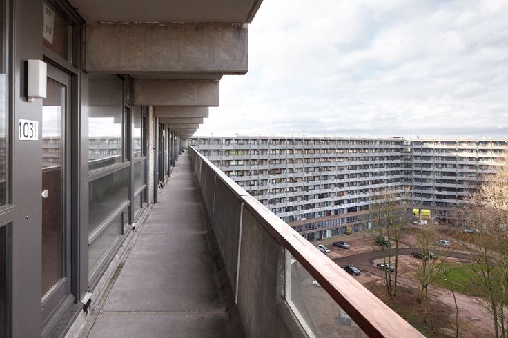Mies van der Rohe Award 2017 goes to NL Architects and XVW Architectuur for revamp of 1960s slab block ---> colossal-amsterdam-housing-estate-up-to-date-customisable-apartments-architecture/