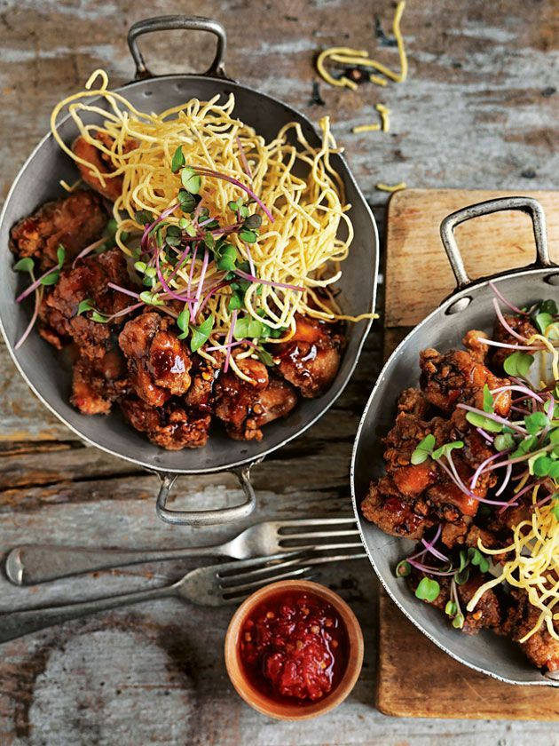 Five Spice Chicken With Crispy Noodles | Donna Hay