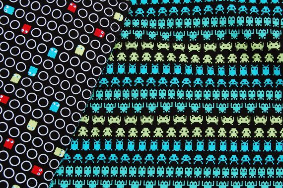 Pacman Space Invaders Quilt