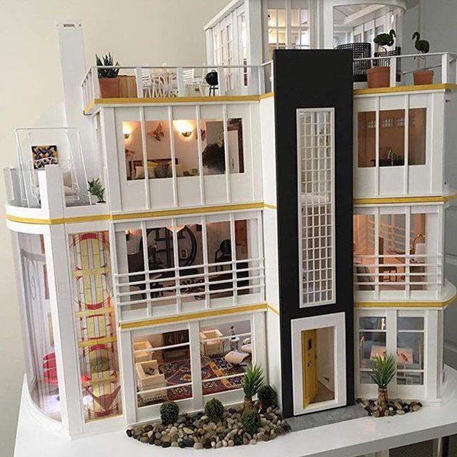 Modern dollhouse.                                                                                                                                                                                 More