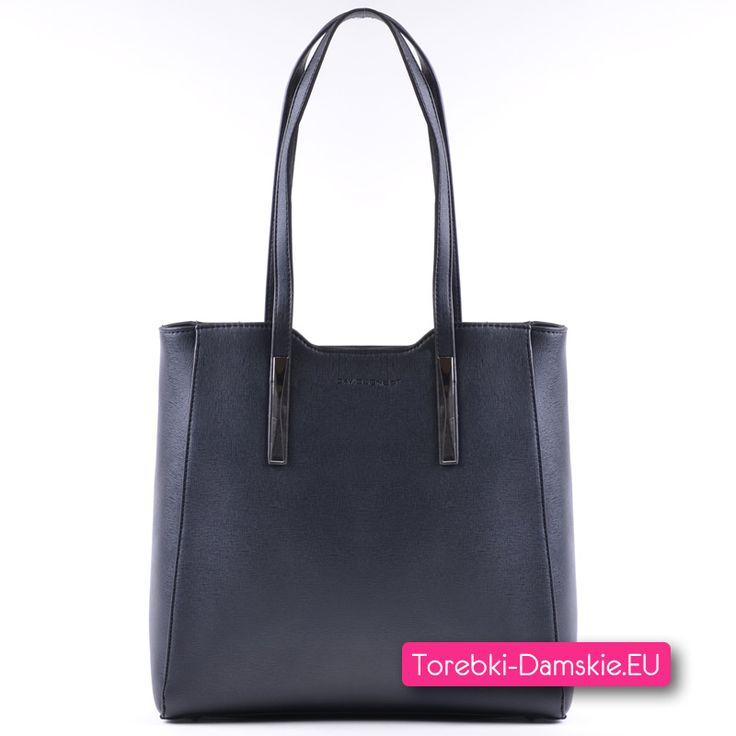 Czarna oryginalna torba David Jones na ramię, mieści A4. Aby zobaczyć wszystkie zdjęcia kliknij Tutaj http://torebki-damskie.eu/czarne/1406-oryginalna-czarna-torebka-david-jones-shopperbag-na-ramie.html