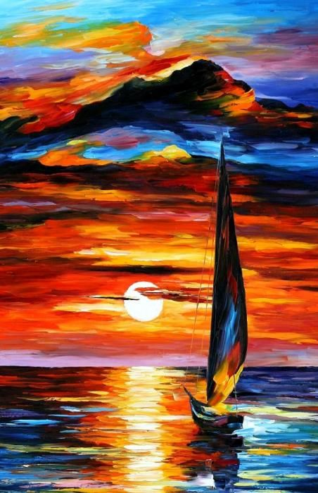 Towards The Sun Painting  - Towards The Sun Fine Art Print (by Leonid Afremov on fineartamerica.com)