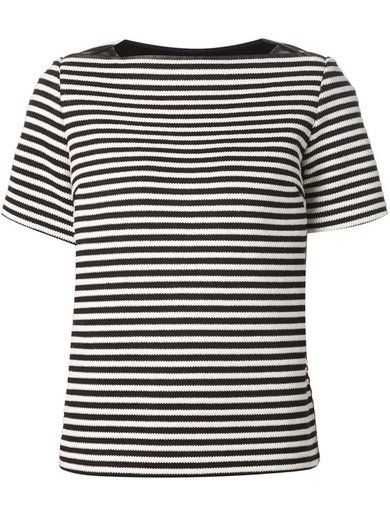 T By Alexander Wang Twisted Stripe Top