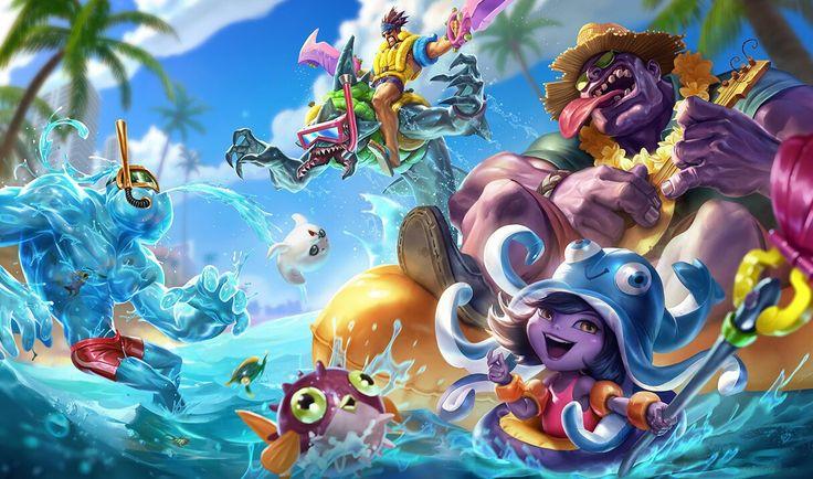 Pool Party Draven, Mundo, Lulu, Zac, Rek Sai