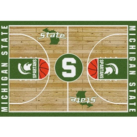 "Milliken 7'8"" x 10'9"" Michigan State College Basketball Area Rug"