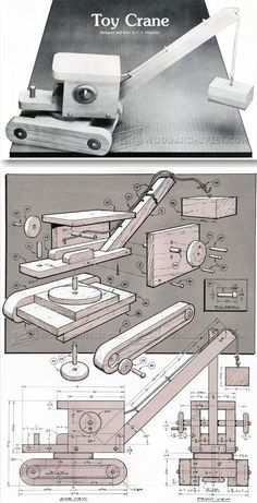 Wooden Toy Crane Plans - Wooden Toy Plans and Projects | WoodArchivist.com