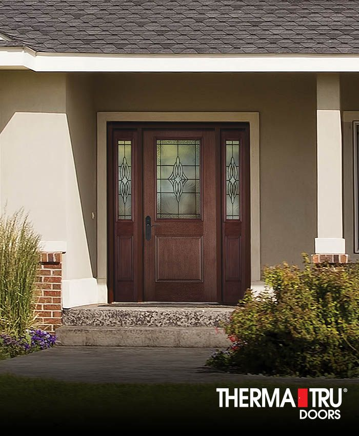 16 best fiber classic mahogany collection images on for Therma tru maple park