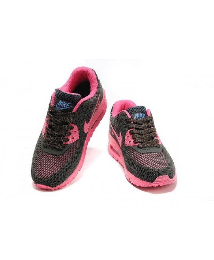 27df2a7573 Womens Nike Air Max 90 Pvc Style Black Pink 6809331-535 | nike ...