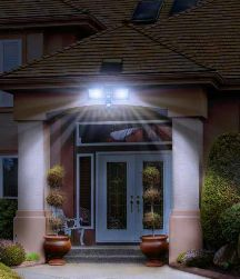 Add security to your home and landscape at night with this dual head solar motion sensor security light. This solar security light includes 60 LEDs in each adjustable lamp, giving you a total of 120 LEDs that will provide a bright light to the darkest area of your home. http://www.mysolarshop.com/solar-security-light-23401