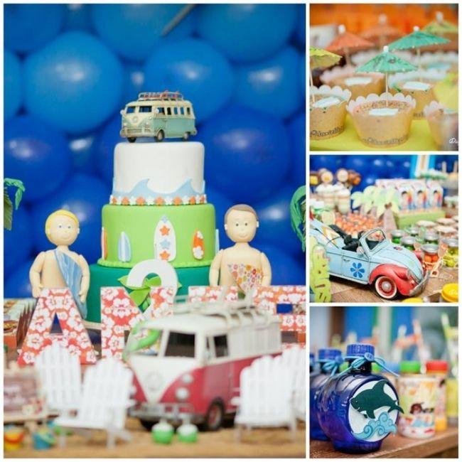 Boys Surfer Themed Birthday Party Ideas Boys