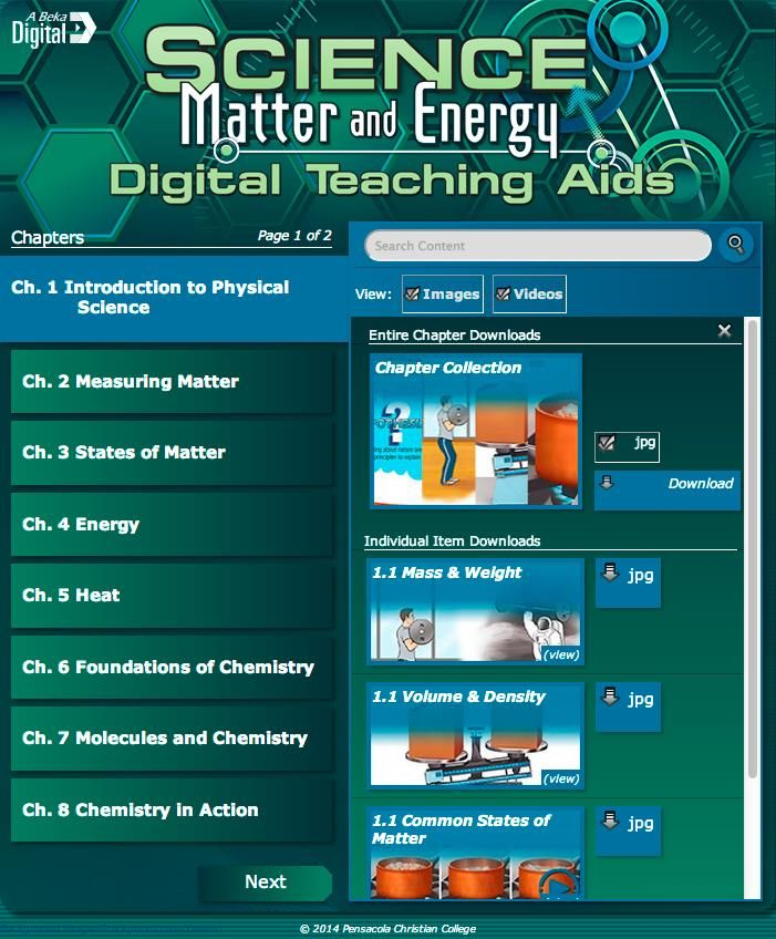 Abeka Science Matter and Energy  TEST/QUIZ Keys  9th Grade 9  CURRENT Edition