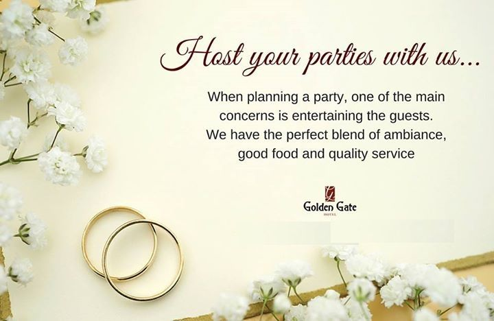 Host your parties with us!  Golden Gate a #boutique #hotel in #Indore has the most elegant #venue with the best in town services.